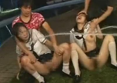 【閲覧注意】二人組の女子校生を拉致って叩いて濡らして陵辱して縛って犯して埋めて