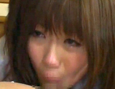 権力者のジジイのチ●ポを泣きながらしゃぶらされて中出しレイプされる巨乳女子校生