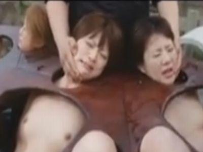 人体固定され中出し専用の肉便器としてレイプされる3人娘