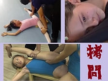 【拷問映像集】 鬼の開脚トレーニングで泣き叫ぶ少女たち。