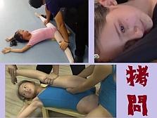 【拷問映像集】 鬼の開脚トレーニングで泣き叫ぶ少女たち