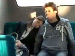 バスで眠っているOLを狙って、車庫に連れ込んで顔射レ●プ